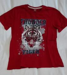 Piros tigris mintás rövidujjú póló