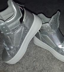 Új ezüst flitteres, csillámos cipő