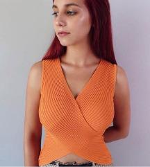 átlapolós narancs top /saját képek/