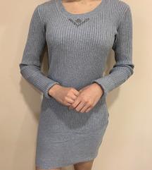 Szürke bodycon ruha S/M