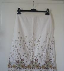 Orsay drapp hímzett virágmintás szoknya, S/M-es