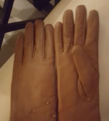 Új v.barna bőr bélelt gyönyörű kesztyű