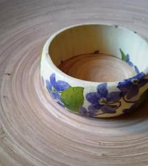Decoupage / dekupázs fa karkötő