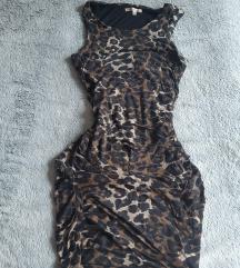 szexi leopárdmintás Bershka kisruha
