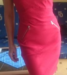 Új piros f&f  karcsúsított ruha S