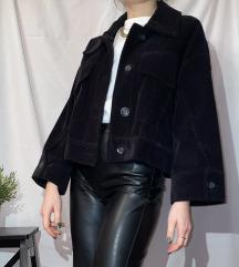 Zara cropped oversized kordbársony dzseki