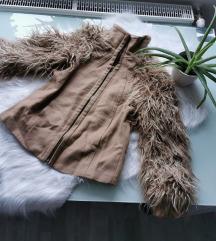 ZARA szőrme kabát XS Új