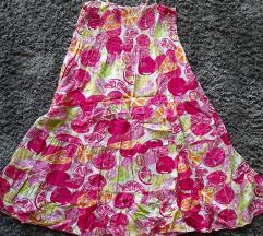 Gyümölcs mintájú térdig érő ruha