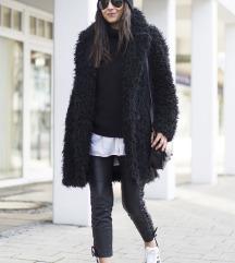 Reserved fekete Teddy Coat műszőrme kabát XS/S