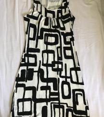 Fekete fehér mintás ruha