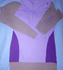 Lila garbós nyakú pulóver