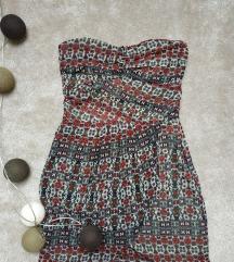 mintás nyári ruha MANGO