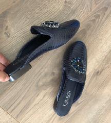 Ralph Lauren sötétkék köves bőr papucs