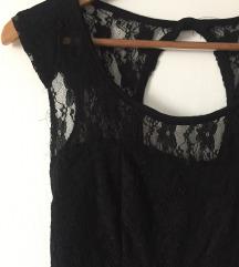 Fekete csipkés alkalmi ruha