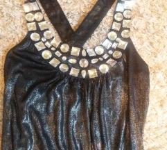 Elegáns, sexi fekete-ezüst ruha