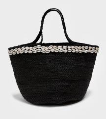 Zara kagylós juta táska