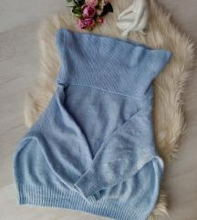 H&M baba kék óriás garbós pulóver M