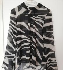 Zebra mintás átlátszó felső Rinascimento