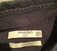 Mango Slim fit férfi pöttyös ing