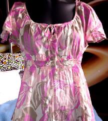 H&M pink-lila, virág mintás blúz 🌸