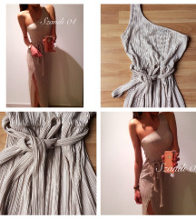 Pliszírozott maxi ruhax