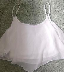 Zara fehér crop top