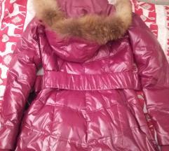 Mayo chix pink hosszú, kapucnis téli kabát
