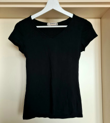 Pull&bear fekete rugalmas pamut póló