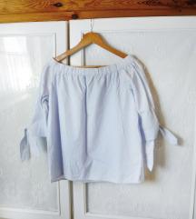 ✿ Újsz. masnis pasztellkék H&M off-shoulder felső