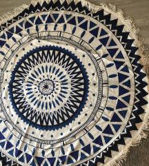 ÚJ óriási MANDALA strand szőnyeg (145 cm átmérő)