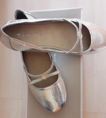 Új ezüst TAMARIS balerina cipő áron alul