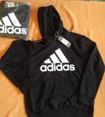 Új, M-es, Adidas, vastag, kapucnis, fekete felső