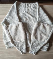 Kötött pulóver meleg téli