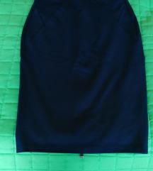 Reserved sötétkék elegáns hátul cipzáros szoknya