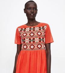 Zara M méretű hímzett ruha