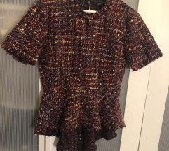 Zara Woman tweed blúz