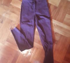 H&M szilva színű magasított derekú nadrág
