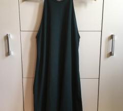 Zara sötétzöld ruha