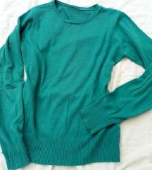Türkiz zöldeskék pulóver