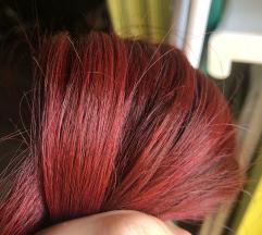 Vörös tresszelt 100% európai emberi póthaj