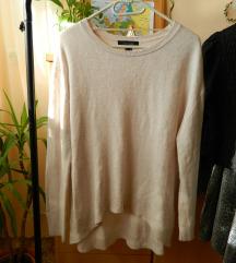 Bézs hosszított pulóver