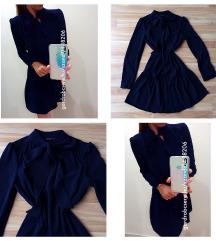 M&S kék megkötős ruha