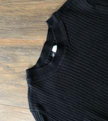 H&M bordazott fekete hosszúujjú