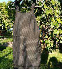 csíkos kantáros ruha 34