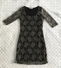 Arany fekete csipkés alkalmi ruha