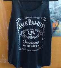 👚Fekete Jack Daniels ujjatlan felső