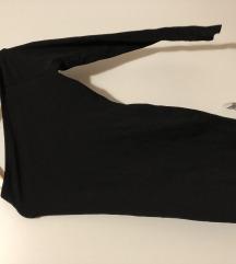 Félvállas hosszú ujjú fekete ruha s m