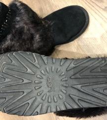 UGG australia fekete bundás szőrös csizma W7