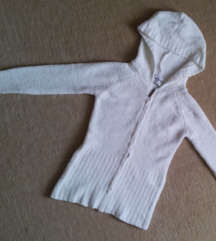 Cafebrand fehér puha kötött meleg pulóver