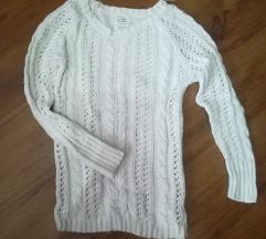 Clockhouse hófehér kötött pulóver